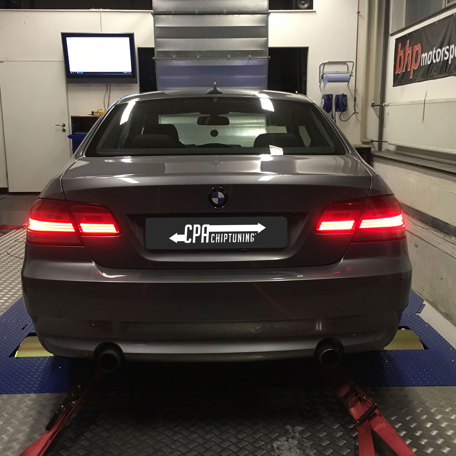 The little brother of the M3 on the dyno at CPA